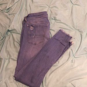 American Eagle Super Low Rise Size 4 Jeggings